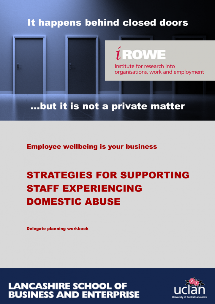 Strategies for supporting staff experiencing domestic abuse