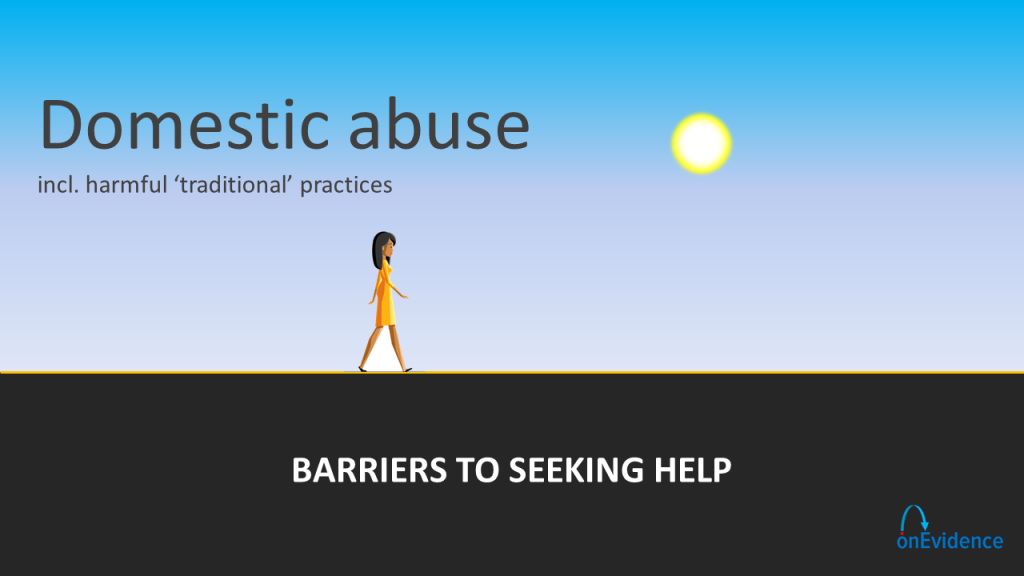 Projects - Domestic abuse - barriers to help seeking