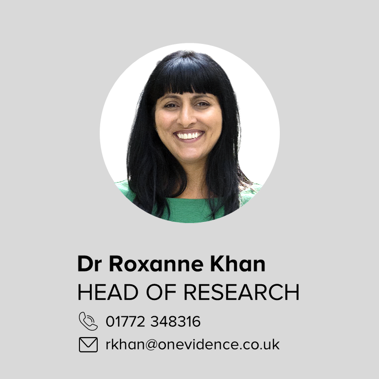 About: Dr Roxanne Khan - Head of research
